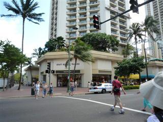 ハワイの街角(ホテルのすぐそば)